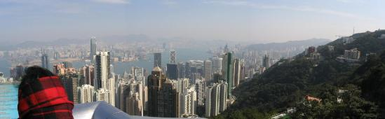 This was from the top of Victoria's Peak.  We liked Hong Kong a lot.