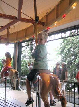 Travis on the carousel, too.