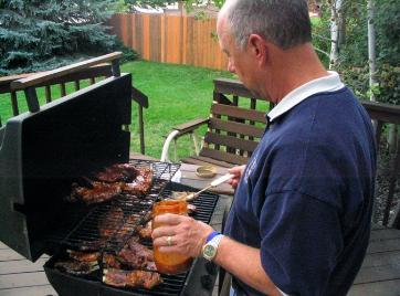 The Koch family's favorite meal...  Barbecued spare ribs.  Yum!