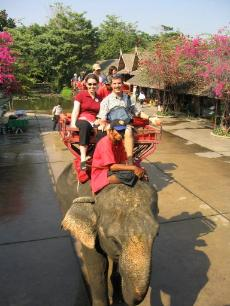 I finally got to ride an elephant in Bangkok!  I was excited.