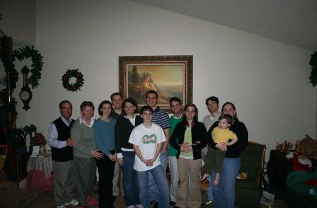 The whole Conover clan, acutally the clan sans Audrey, because she was asleep.