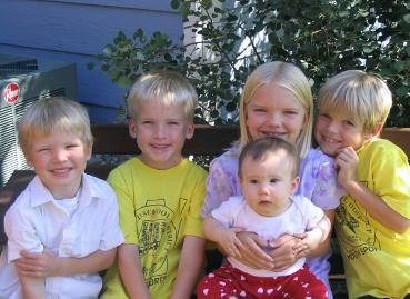 The five Koch grandkids, although four are Westfalls...
