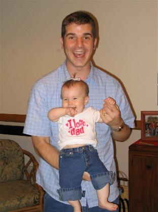 My first Father's Day.  Audrey wore this cool shirt in honor of the day.