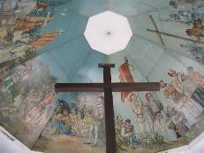 Magellan's cross.  Supposedly the cross Magellan planted to symbolize the arrival of Christianity is encased in this cross.