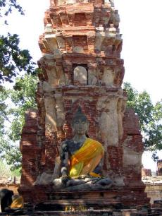 The old capital of Ayutthaya.