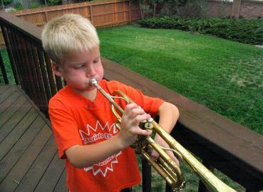 Although the trumpet is Daniels, he had already disappeared by the time I got the camera out...